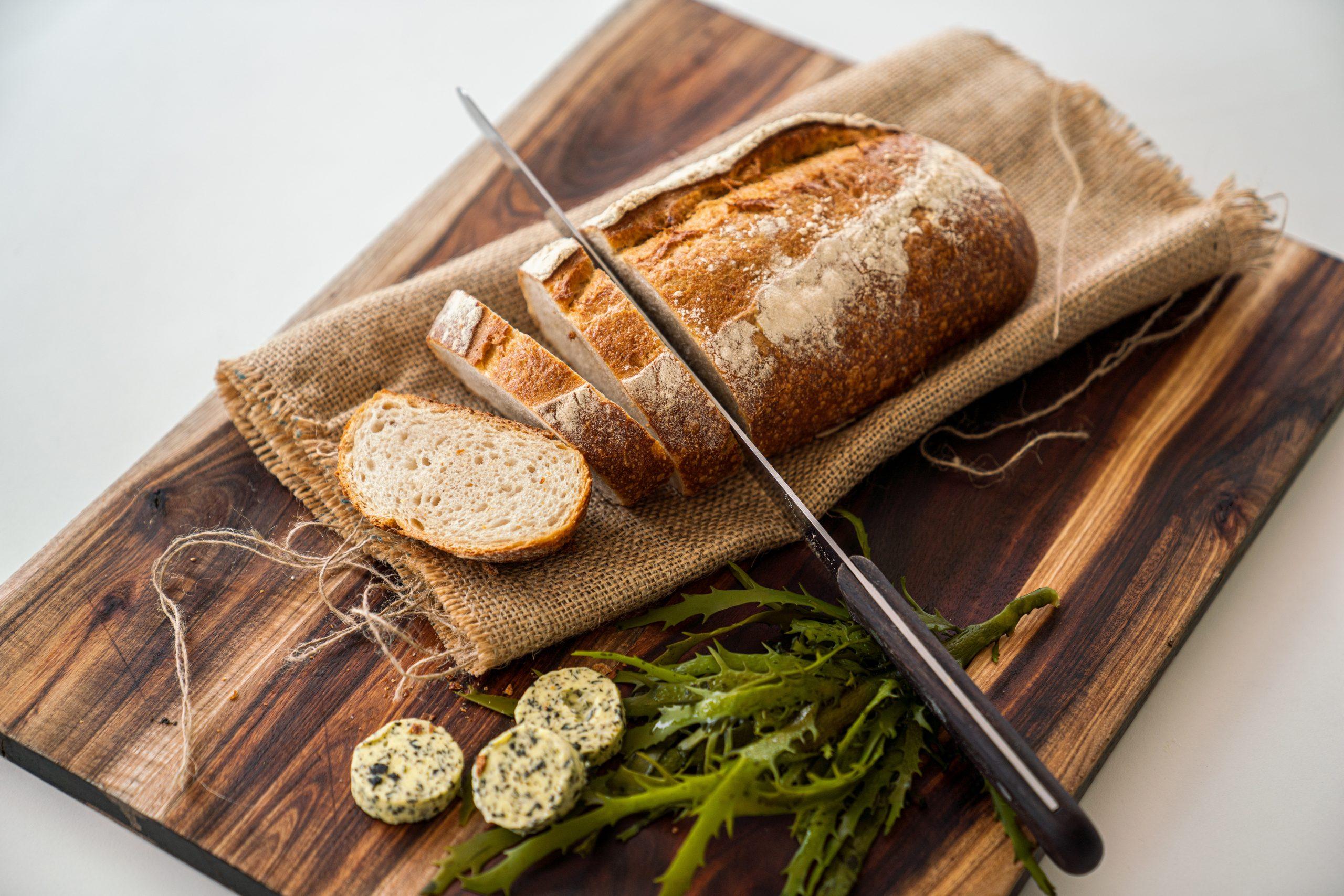 Bread & seaweed butter platter