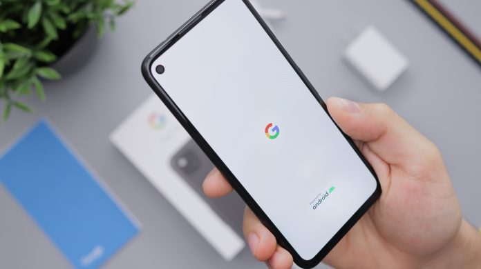 Google Android Pixel 4a Smartphone Booting Up
