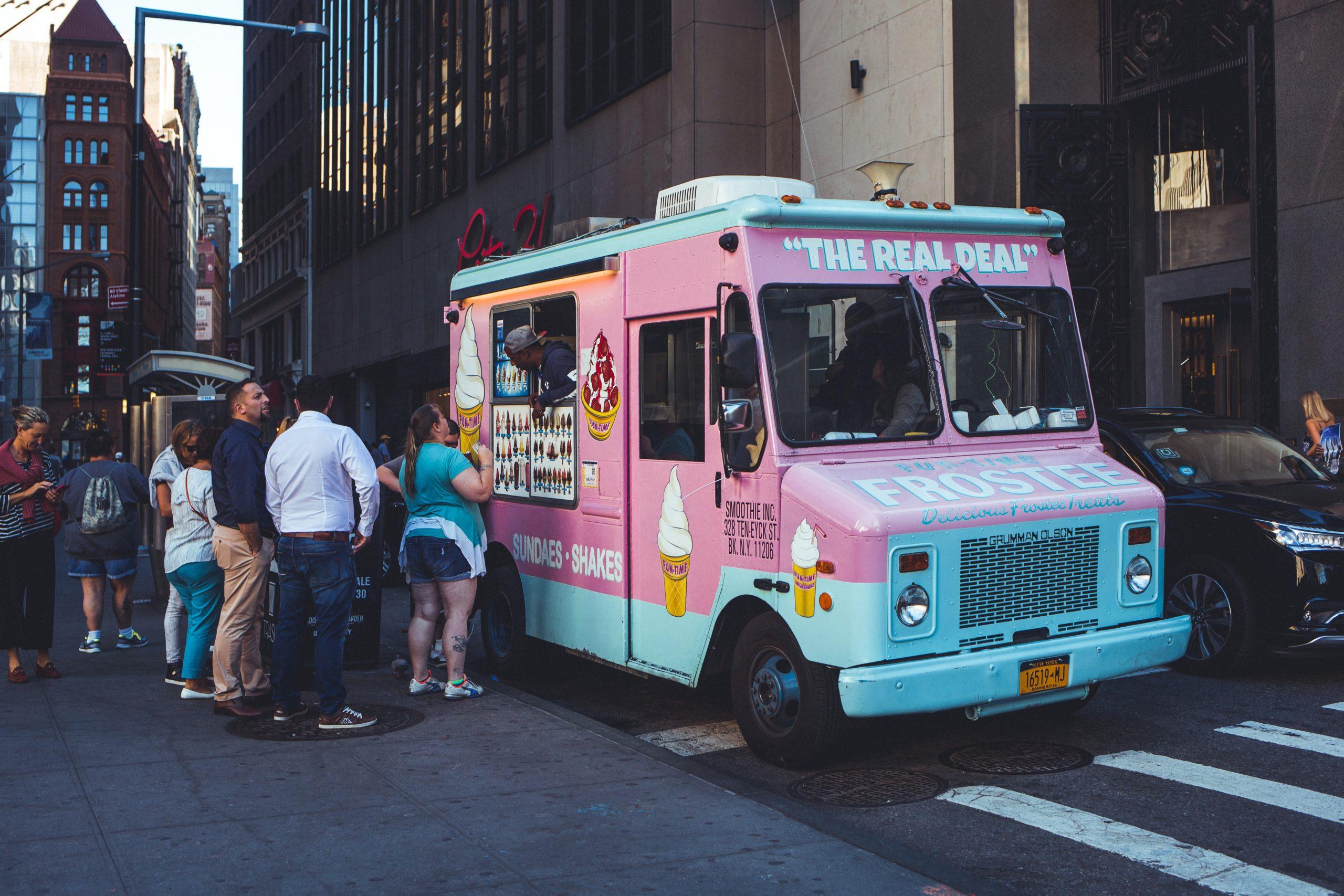 Ice Cream Truck in Lower Manhattan