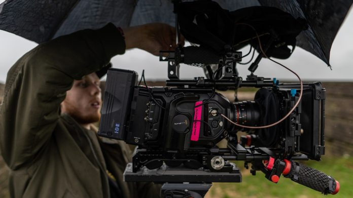 A BTS (behind the scenes) photo from John Buckleys music video 'Running back to you'. Director - Benedict Webb, DP - Joel Tucker