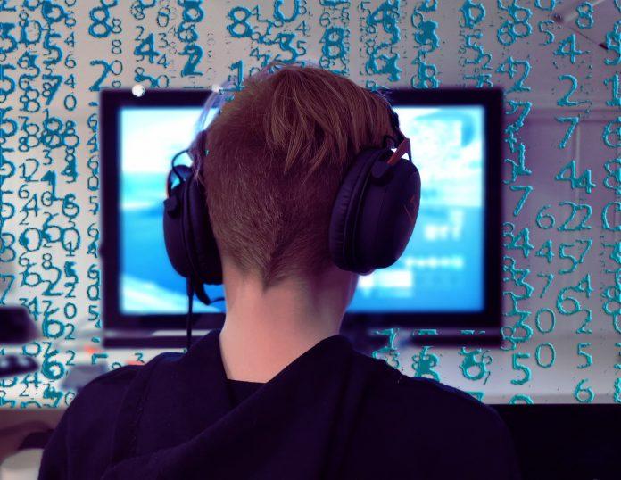 gamer, computer, headphones