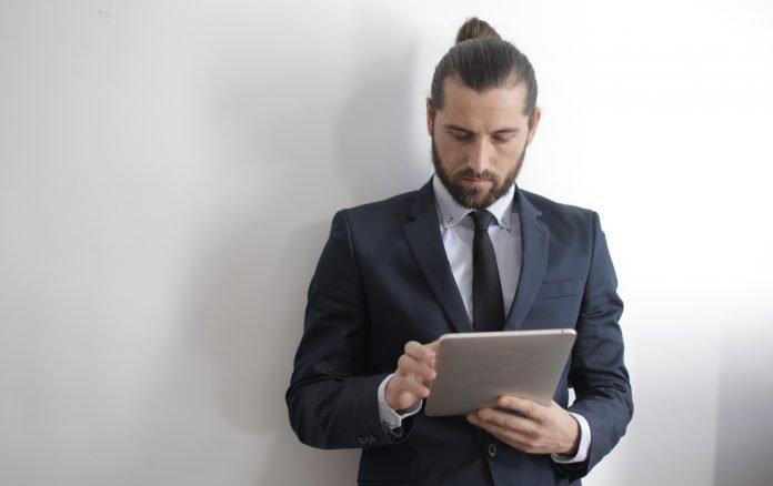 Man wearing a business attire