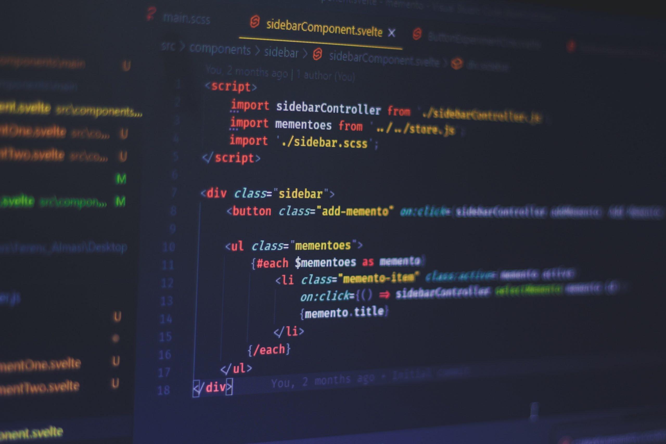 Svelte code example