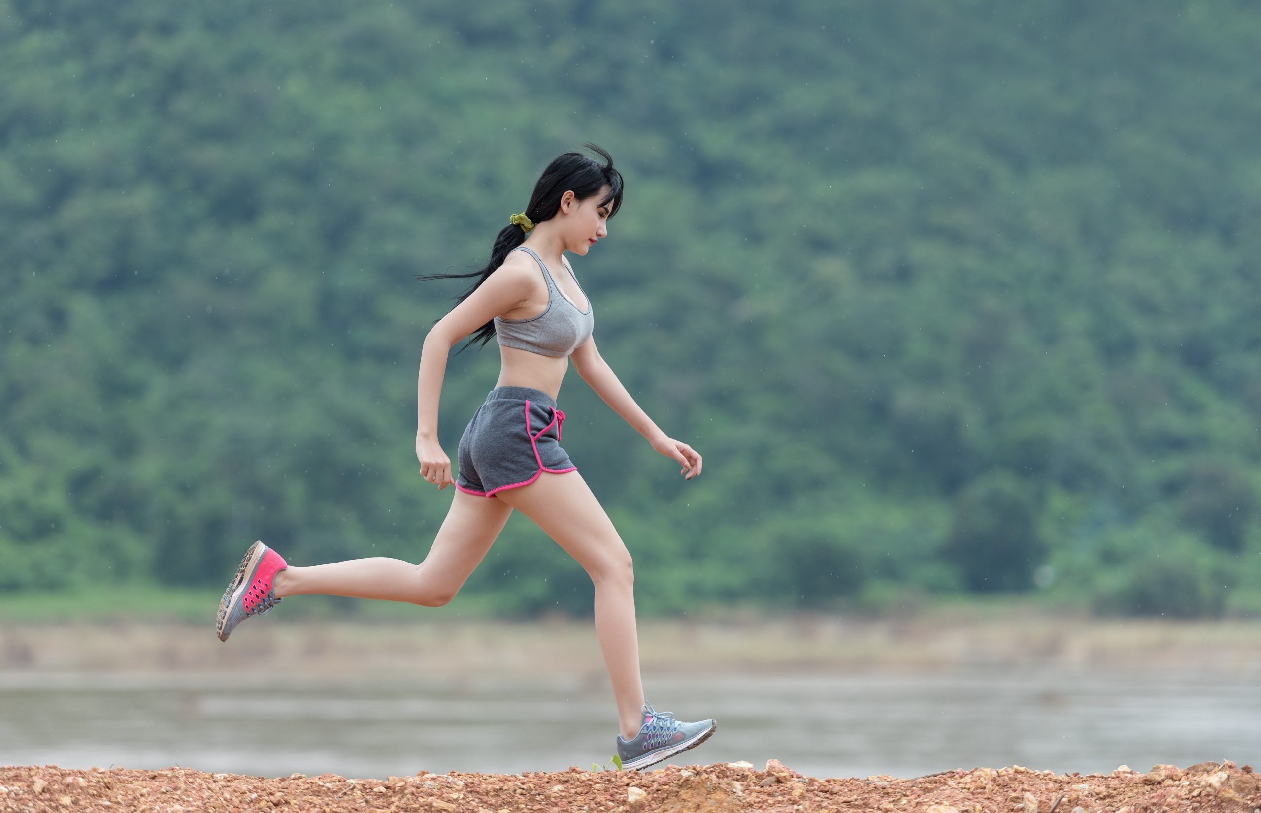 woman, running, run